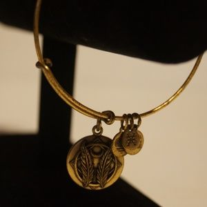 Alex and Ani Gold Tone 4 Charm Bracelet